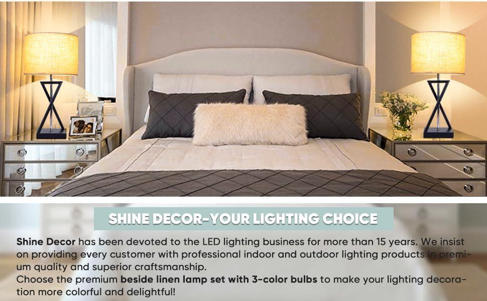 Shine Decor Lamp Set of 2