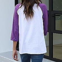 halloween fly baseball tee shirts splicing long sleeve fall loose tee womens letter print shirts