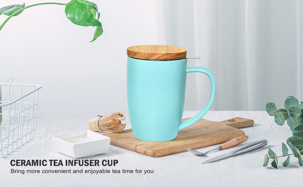 CERAMIC TEA INFUSER CUP