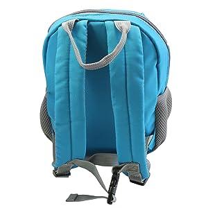 emmzoe neon toddler backpack blue back