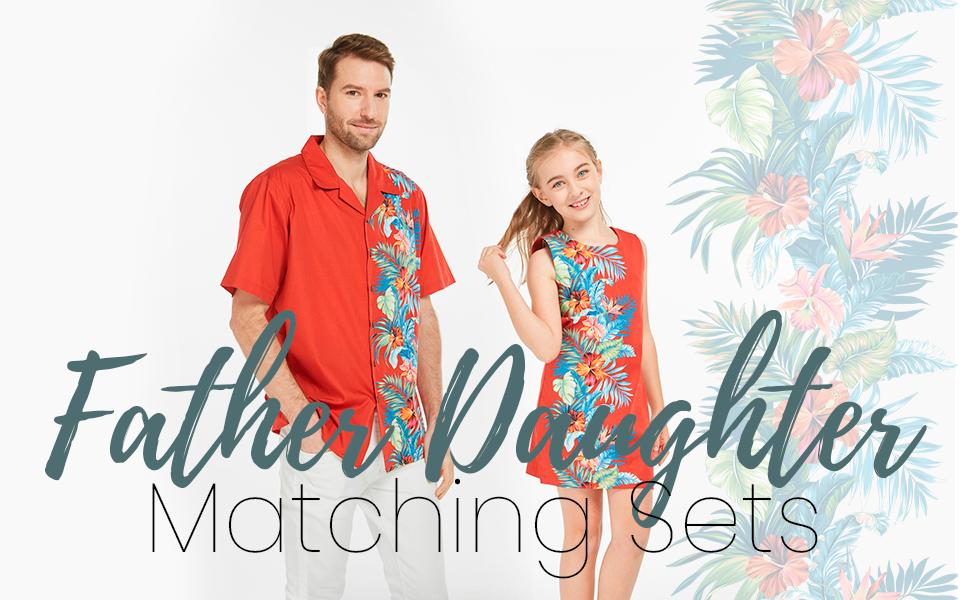 Hawaii Hangover Hawaiian Father Daughter Matching Set Aloha Shirt Girl Vintage Dress
