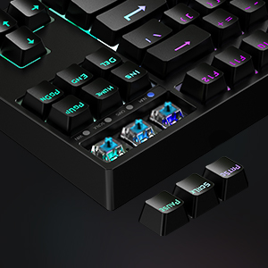 The keycaps with satisfying oil-resistanct, and the print is manufactured with superior durability.