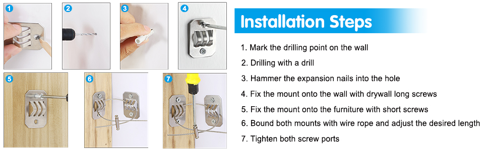 wall anchors for furniture baby safety first furniture wall straps long safety strap