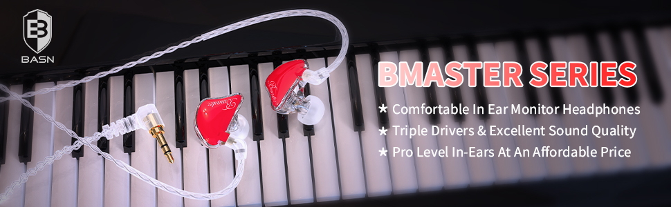 basn bsinger triple drivers in ear monitors with mic mmcx cable