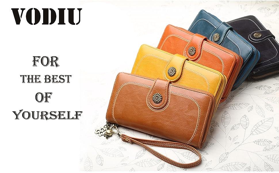 Oil Wax Leather Clutch Bag