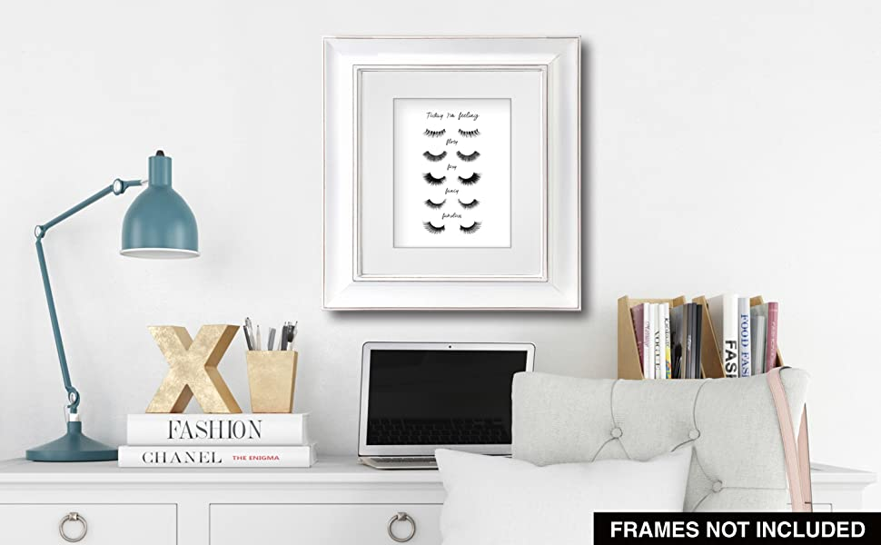 Amazon Com Confetti Fox Make Up Lover Gift Wall Art Decor 8x10 Unframed Print Sassy Quotes Phrases Lashes Makeup Eyelashes Poster Artwork Posters Prints
