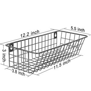 1b1be584 3a09 4f21 ac30 819651301862. 3 Set Hanging Wall Basket for Storage, Wall Mount Steel Wire Baskets, Metal Hang Cabinet Bin for Organizer, Rustic Farmhouse Decor, Kitchen Bathroom Accessories Organizer, Industrial Gray, Medium    Product Description