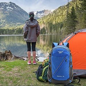Lixada 40L R/ésistant /à Eau Voyage Sac /À Dos Camp Randonn/ée Ordinateur Portable Sac /À Dos Trekking Climb Retour Sacs Hommes Femmes