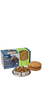 beef, duck, freeze dried, dog food, pet food, side by side, natural, ingredients, made in USA,
