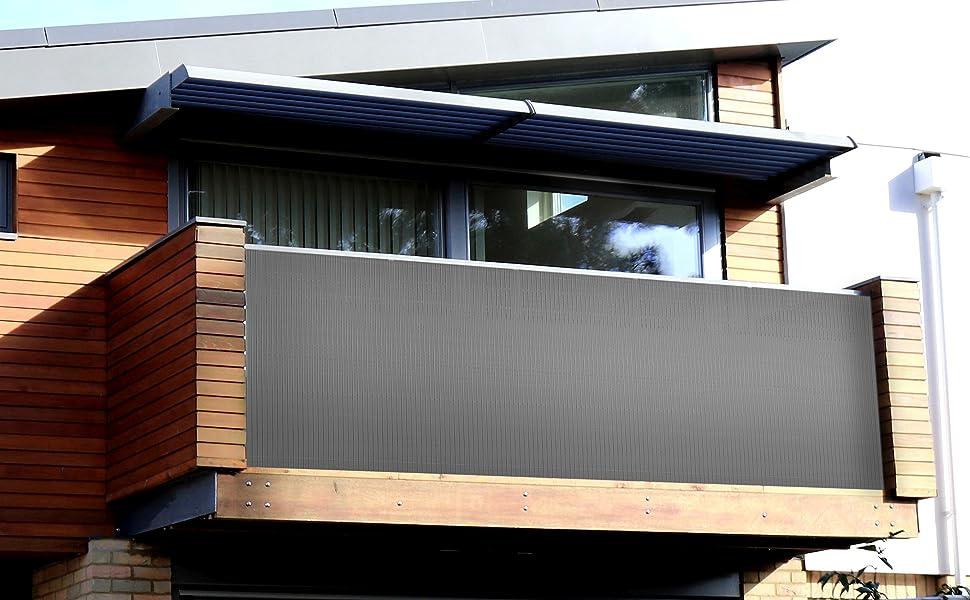 3-10m PVC Sichtschutzmatte sichtschutzmatte balkon Windschutz Gartenzaun Freien