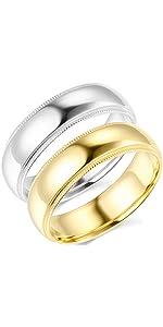 6mm Milgrain Comfort Fit Wedding Bands