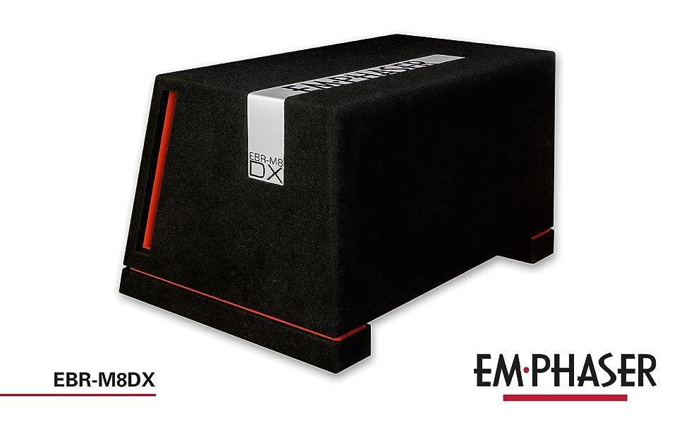 Emphaser EBR-M8DX: Bassreflex Gehäusesubwoofer fürs Auto