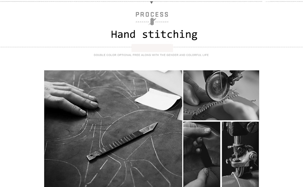 hand stitching shoes