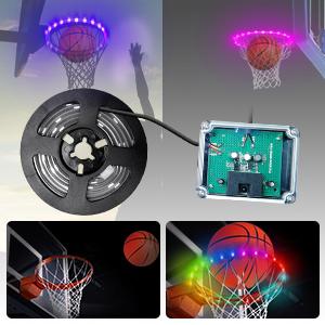 led baketball rim light