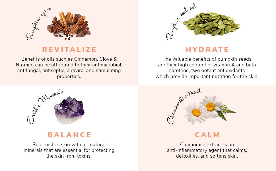 Revitalize, Hydrate, Balance, and Make your skin Calm using Pumpkin Spice Night Bundle Skincare Kit.