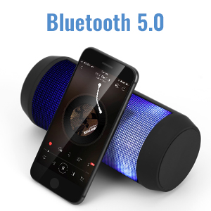 9999  ELEHOT Bluetooth Speaker Portable Wireless with Lights, Stereo Loud Volume, TWS Dual Pairing Speaker with Subwoofer Outdoor 1 PC 1b39fd03 3574 42a7 9120 3d37d0bf1182