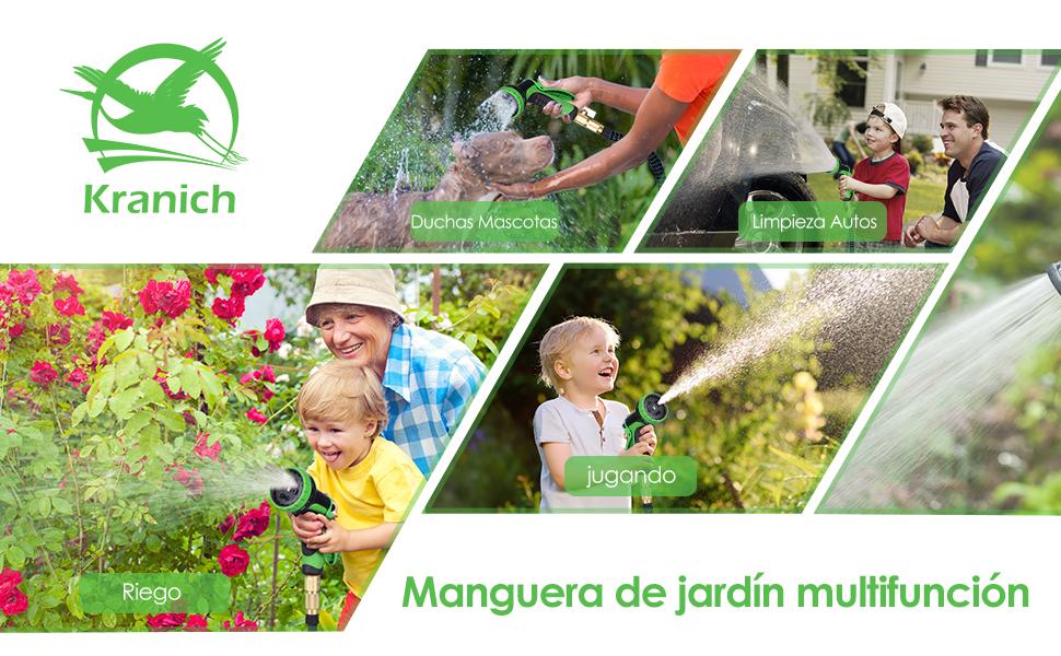 Mangueras Jardin Extensibles 30m 100FT Flexible Multifunción Manguera de Agua para Riego y Limpieza: Amazon.es: Jardín
