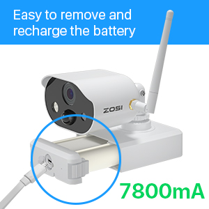 32GB Tarjeta de Memoria Detecci/ón de Movimiento PIR Visi/ón Nocturna ZOSI 1080P Kit de C/ámaras de Vigilancia WiFi 4CH Grabador NVR con 2 C/ámaras de Seguridad Exterior con Bater/ía Recargable