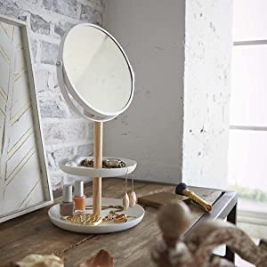 hygge & cwtch tiered tray with mirror