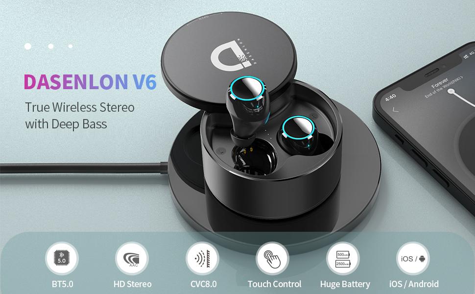wireless earbuds tws bluetooth earbuds waireless headphone bluetooth headphone wireless charging
