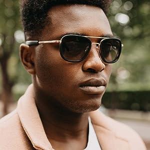 Aviator Sunglasses for men The best sunglasses luxury gold sunglasses glass lens sunglasses for men