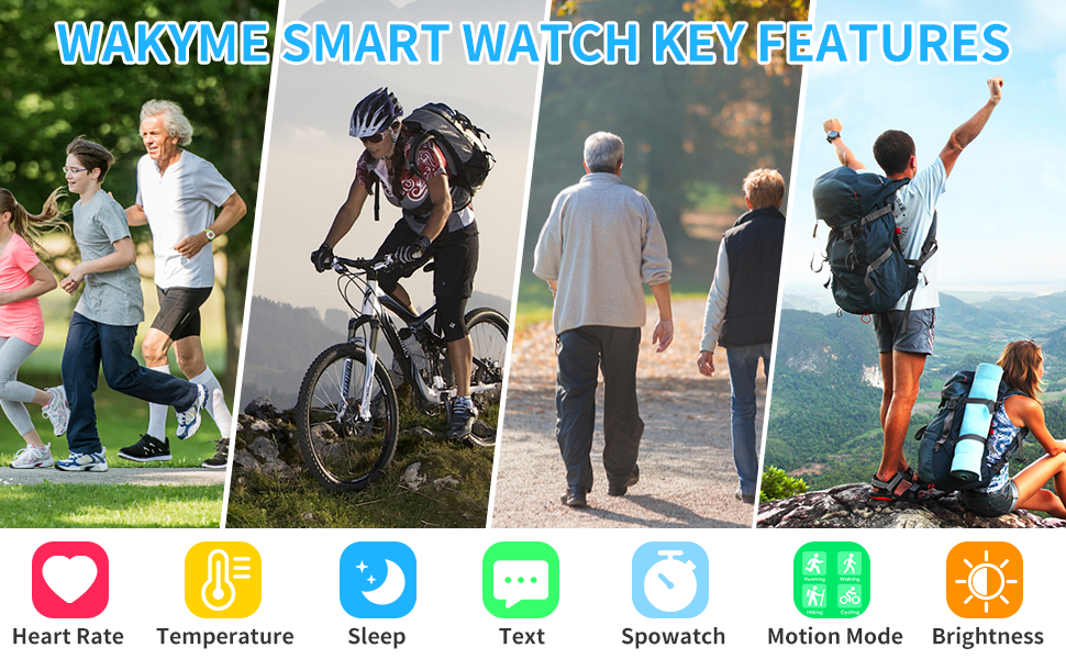 Smart watch with multip sports modes