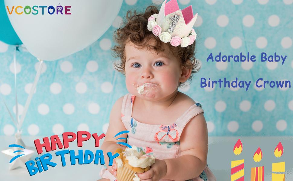 Baby birthday Tiara Crown