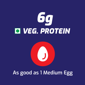 6 gm of vegetable protein