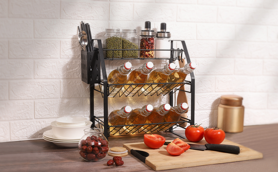 Spice Rack Organizer for Countertop