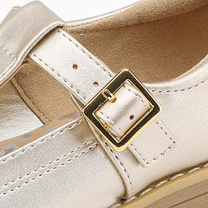 Mädchen Mary Jane Halbschuhe Schuluniform Flache Schuhe