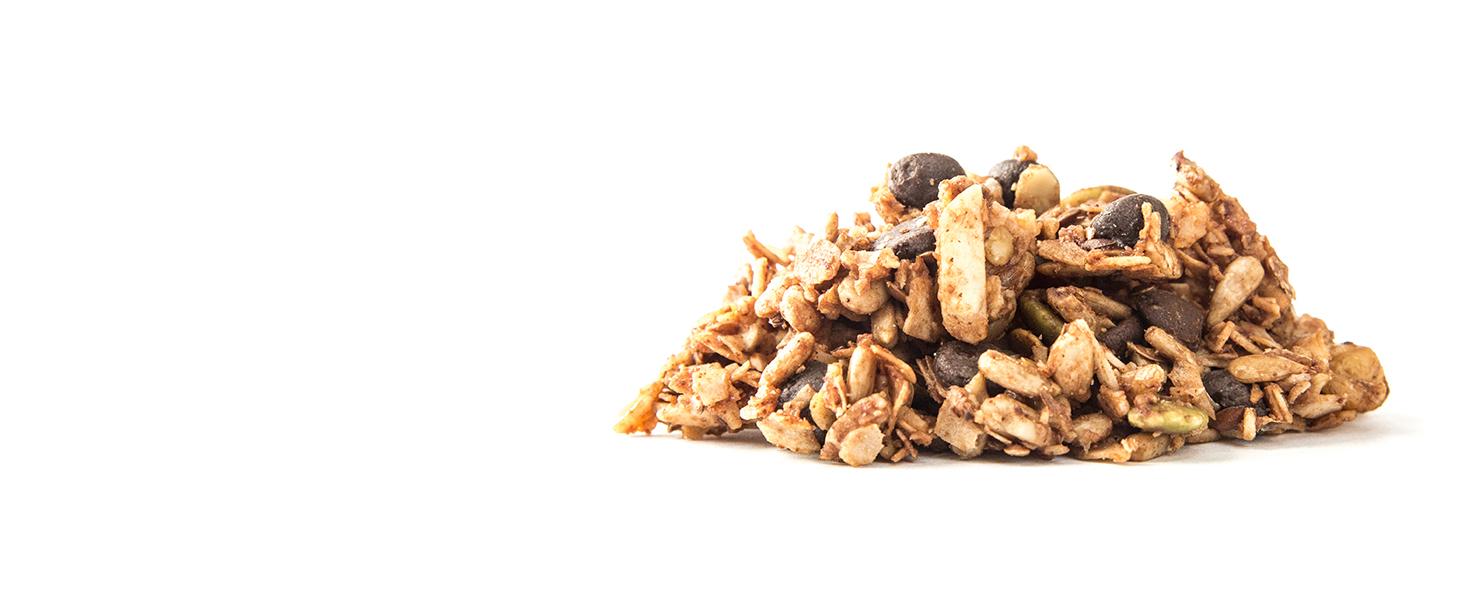 double chocolate chip keto granola