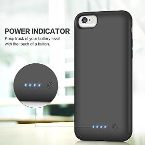 Gixvvdcu Coque batterie pour iPhone 6S/6/7/8 6000 mAh avec batterie externe pour Apple iPhone 6S/6/7/8 (4,7