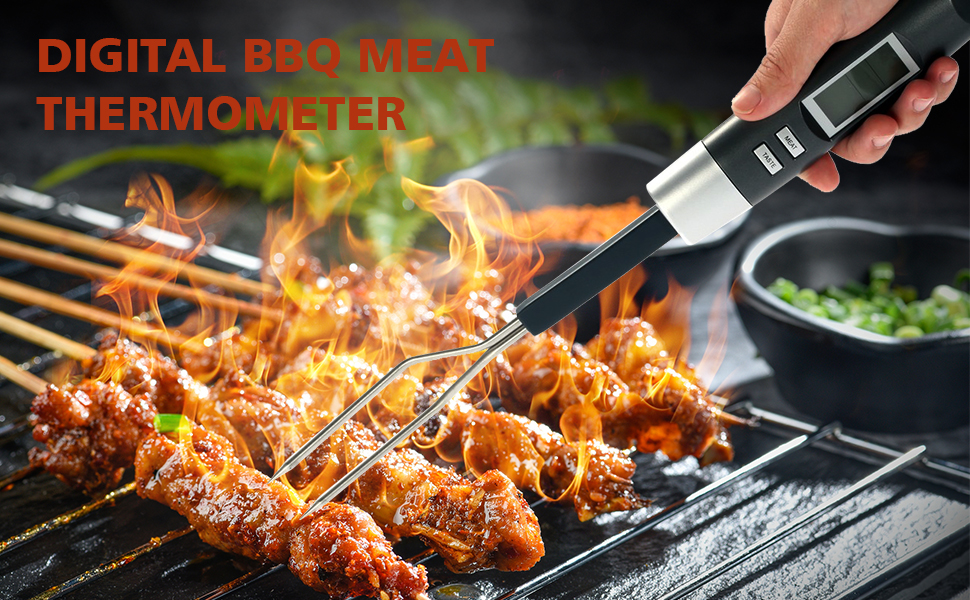 Instant Read Meat Thermometer Fork