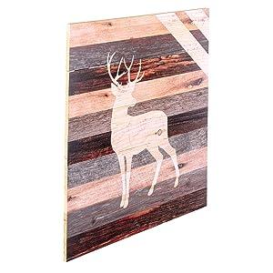 Graham Dunn Deer in Woods Dark Distressed 17.5 x 17 Wood Pallet Wall Plaque Sign P Graham Dunn P