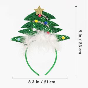 4 Pack Christmas Headbands
