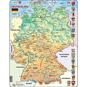 Germania Cartina Fiumi.Larsen K40 Germania Mappa Fisica Edizione Tedesco Puzzle Incorniciato Con 50 Pezzi Amazon It Giochi E Giocattoli
