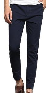チノパン ストレッチ パンツ メンズ ロングパンツ くるぶし丈 スキニー ズボン ベーシック