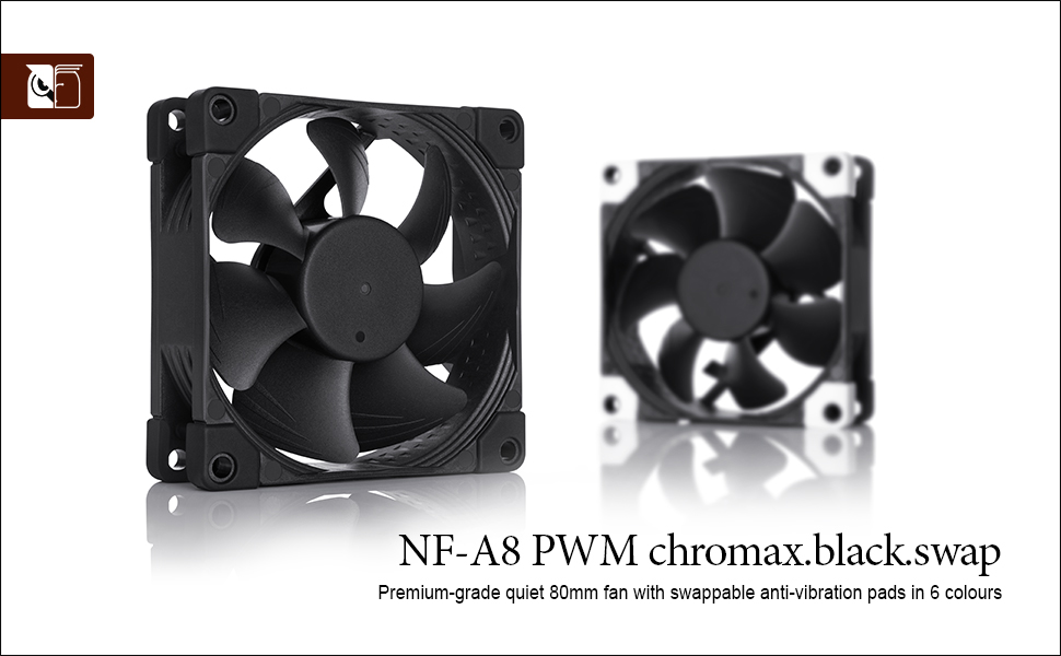 Noctua Nf A8 Pwm Chromax Black Swap Leiser Computer Zubehör