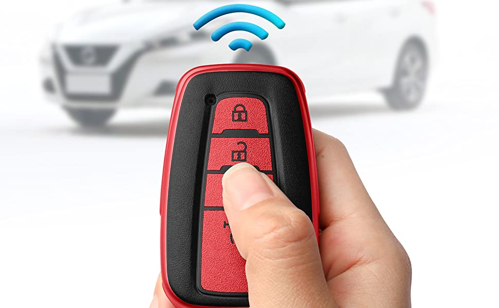 key fob cover red