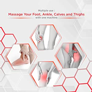 scaping massage for foot calf ankle reflexology