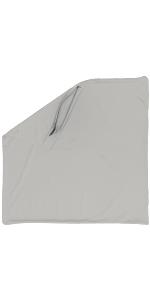Throw Pillow –Light Grey: 1 PCS Luxurious Premium Microbead Pillow with 85/15 Nylon/Spandex Fabric.