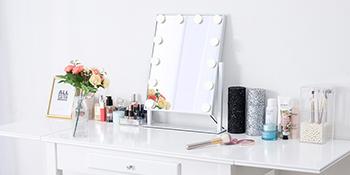 Flinq make up spiegel kantelbaar led lampen