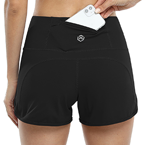 high waisted athletic running shorts for women yoga sports