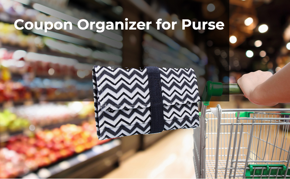Modern Grocery Coupon Organizer for Purse - Wallet & Coupon Holder