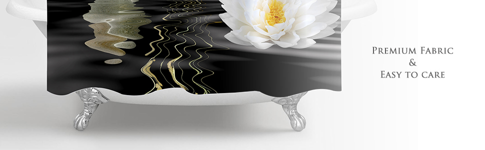 Spa Pebble Stone Lotus Shower Curtain