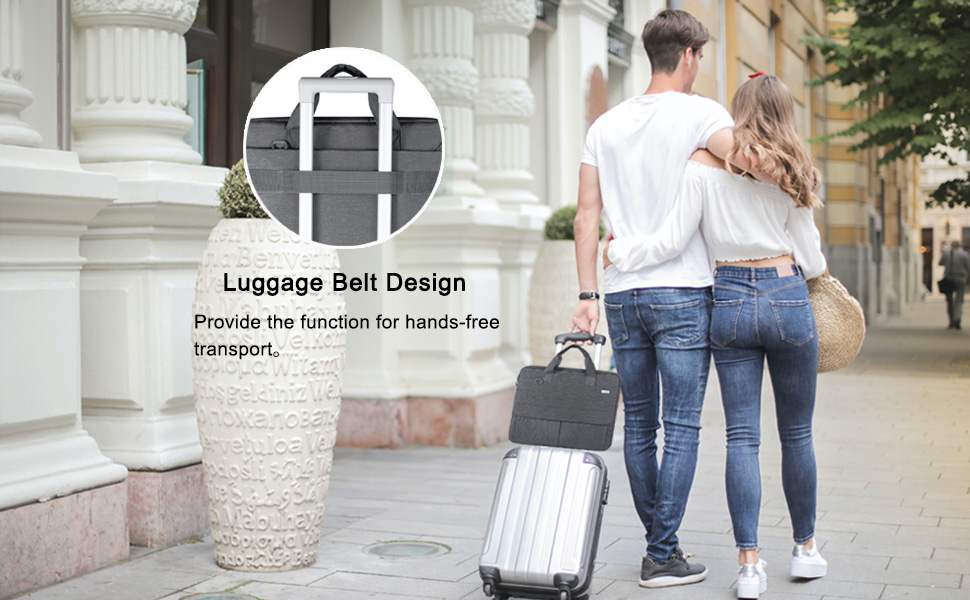 Landici 360 Protective laptop bag sleeve with Shoulder Strap Waterproof Computer Case Cover