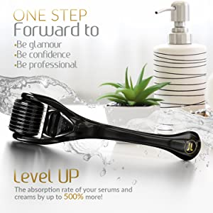 derma roller for hair growth micro needle dermal roller facial kit for women face roller microneedle