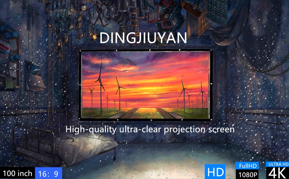 High-quality ultra-clear projection screen