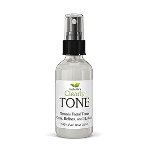 tone rose water pure face black spots dark clear skin organic treatment