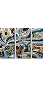 Boho metal wall art